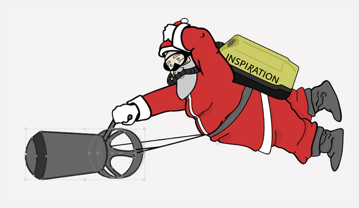Scuba Santa Illustration